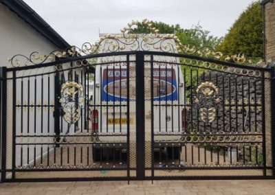Ornate double gate